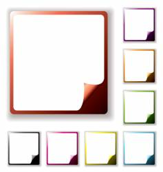 button page peel vector image vector image