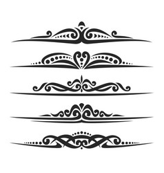 set of black page dividers vector image