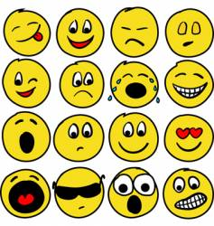 sixteen smiles vector image vector image