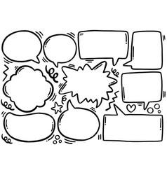 0094 hand drawn background set cute speech vector