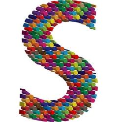 3d font letter S vector image