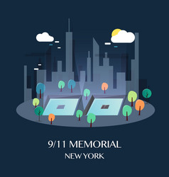 911 memorial new york vector