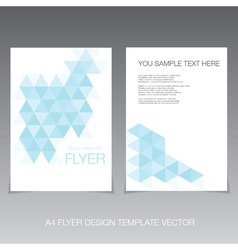 Abstract modern flyer design template vector image