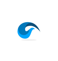 abstract wave water blue logo vector image