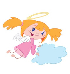 angel girl vector image