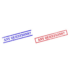 Any questions unknown textured scratched stamp vector