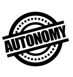 Autonomy sticker stamp vector