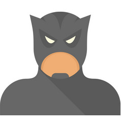 Bat superhero icon flat isolated vector