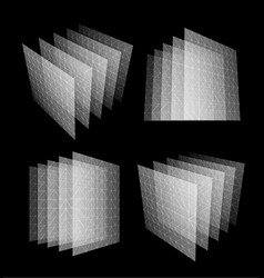 bid data center abstract geometric vector image