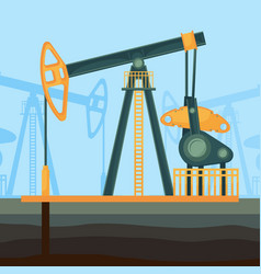 big metal construction for oil extraction deep vector image