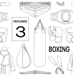 Boxing set pattern vector