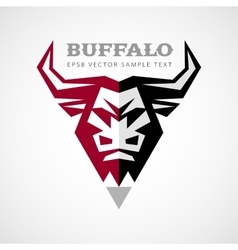 Buffalo head logo vector