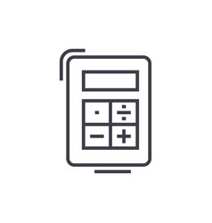calculator line icon sign on vector image