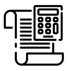 Calculator money invoice icon outline style vector