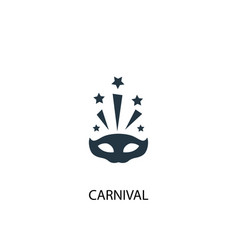 carnival icon simple element vector image