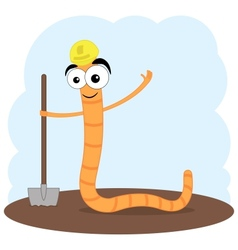 Cartoon of a worm vector