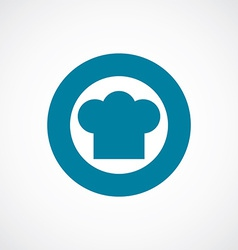 Chef hat icon bold blue circle border vector