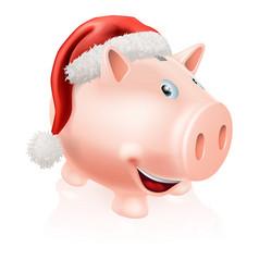christmas savings piggy bank vector image