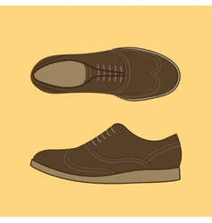 Classical Men Shoes vector image