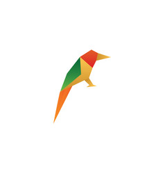 colorful low poly bird vector image
