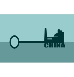 concept of a key of china vector image