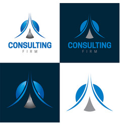 Consulting firm icon and logo vector