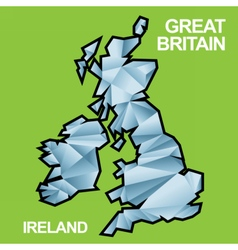 Digital great britain and ireland map vector image