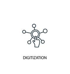 Digitization concept line icon simple element vector