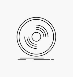 Disc dj phonograph record vinyl line icon isolated vector