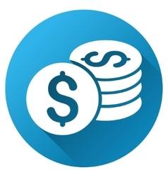 Dollar Coins Gradient Round Icon vector