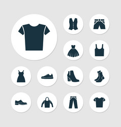 Dress icons set collection of female winter shoes vector