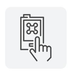 drone control icon vector image