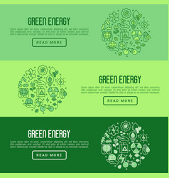 ecology concept with thin line icons vector image