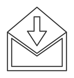 envelope with downward arrow icon vector image