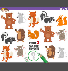 Find two same animals educational task vector