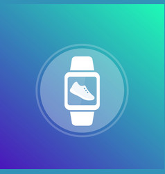 Fitness app pedometer step counter icon vector