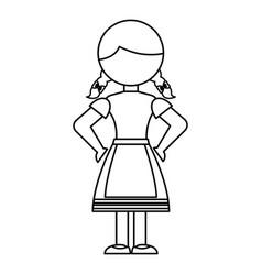 germany girl character icon vector image