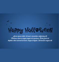 Happy halloween blue background card vector