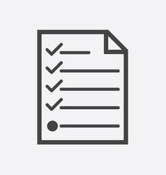 hecklist icon flat vector image