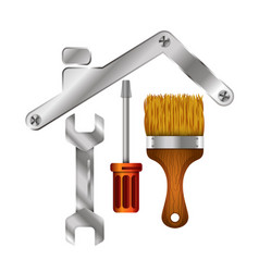 Home repair tool symbol for business vector