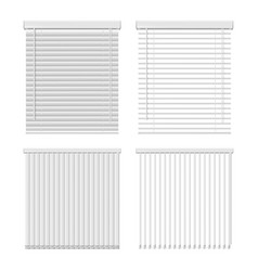 Horizontal and vertical window blinds icon vector
