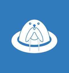 Icon antarctic seals vector