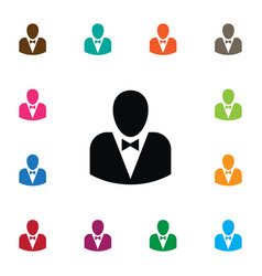 Isolated politician icon leader element vector