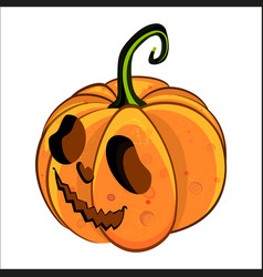 isometric icon of smiling pumpkin face vector image
