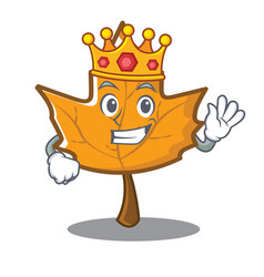 King maple character cartoon style vector