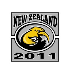 kiwi rugby player with ball NZ 2011 vector image