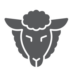 lamb god glyph icon jewish and animal sheep vector image