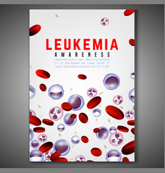 Leukemia vertical background vector