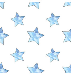 Light blue stylized stars pattern vector