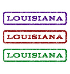 Louisiana watermark stamp vector